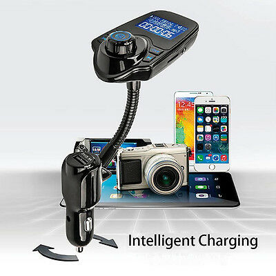 Bluetooth FM Transmitter MMC MP3 Player USB Charger for Samsung Galaxy Note 5 4