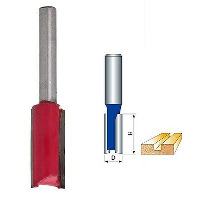 "New 1/4 ""Shank 1/2"" Blade Woodworking Double Flutes Straight Router Bit Cutter"