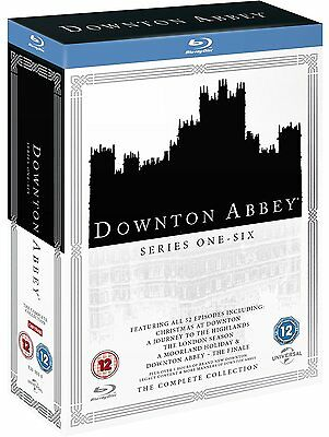 Downton Abbey 1-6 The Complete Collection 1 2 3 4 5 6 Blu-Ray Box Set