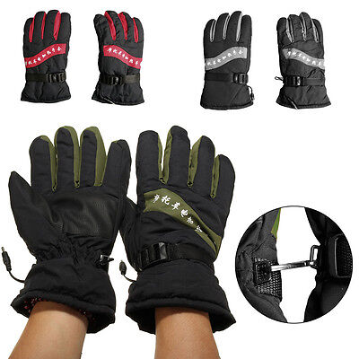 New 12V Motorcycle Outdoor Hunting Electric Warm Winter Warmer Heated Gloves