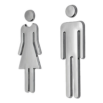 Set of 2 WC Toilet Bathroom ladies Gents Door Wall Signs Man&Woman/Female&Male