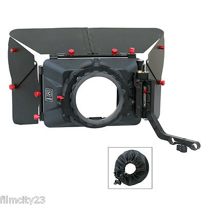 Camtree Swing Away Wide angle Mattebox Sunshade for DSLR 15mm Rod Rail Support