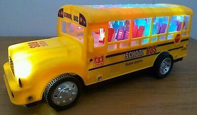 School Bus Radio Remote Control Bus Flashing Led Lights & Music - Fast Speed