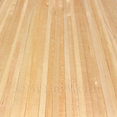 Dolls House Miniature Real Pine Strip Floor With Self Adhesive Back