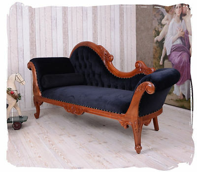 Boudoir Sofa Chaise Longue Empire Recamiere Mahogany Wood Antique Ottoman • £610.88