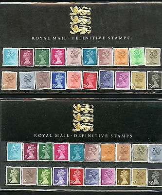 Great Britain   Lot Of 3  Definitive Collector Packs All Stamps Mint Nh