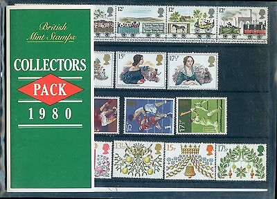Great Britain  1980  Collectors Year Commemorative Packs All  Stamps Mint Nh