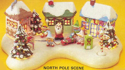 Ceramic Bisque Ready to Paint North Pole Village Electric included