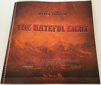 THE HATEFUL EIGHT Roadshow 70mm Movie Program Tarantino DEMIAN BICHIR poster 8