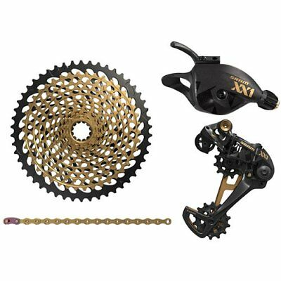 SRAM XX1 Eagle 12 Speed Groupset MTB Kit 4 piece , Trigger Shifter , Gold