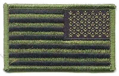 US ARMY USA Flagge Fahne reversed Marsoc Special Forces OD Green Velcro patch