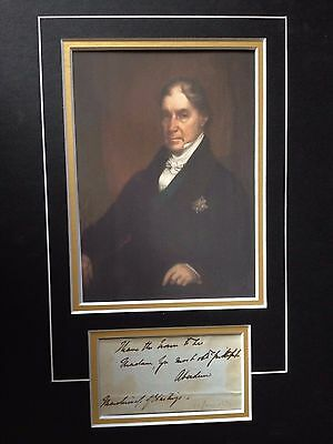 4th EARL OF ABERDEEN - FORMER PRIME MINISTER - SIGNED COLOUR PHOTOGRAPH DISPLAY