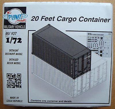 PLANET MODELS MV107 20 Feet Cargo Container Resin Kit in 1:72