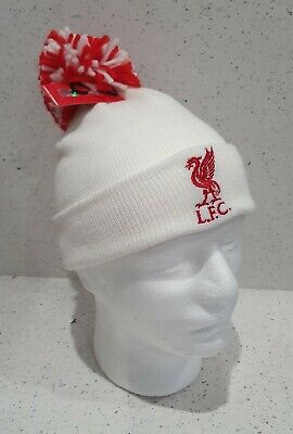 Official Liverpool Baby Hat - White with Red and White Pom Pom - Onesize