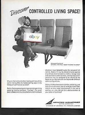 National Airlines 1965 Aerotherm Seats For Dc-8 Jets Spanish Explorer Ad