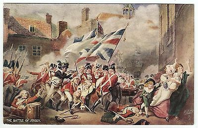 channel islands postcard military the battle of  jersey