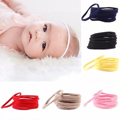 10Pcs DIY Kids Girl Baby Headband Toddler Elastic Hair Band Accessories Headwear