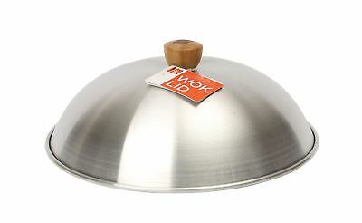 "Dexam School of Wok Lid for 14"" / 36cm Wok Lightweight Aluminium Cover Dome New"