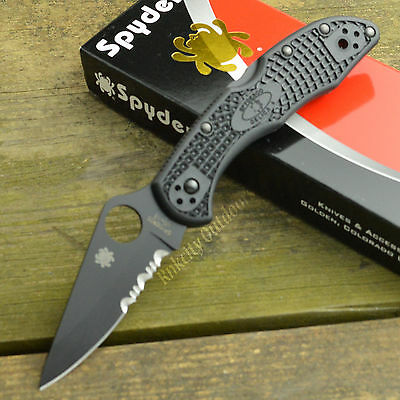 Spyderco Delica 4 Black VG-10 Lockback Folding Knife C11PSBBK