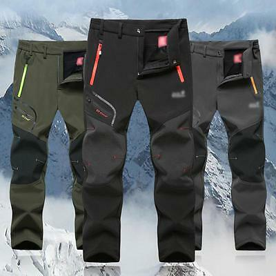 Cool Mens Soft shell Outdoor Pants Thick Casual Combat Hiking Comfort Trousers