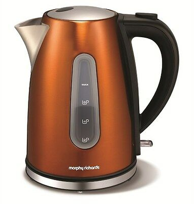 Morphy Richards Accents Jug Kettle 102601 1.5 L 2200Watt Cordless Base Copper