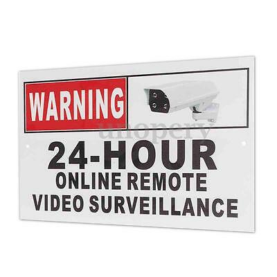 24 Hour Online Video Surveillance Security CCTV Camera Metal Warning Safety Sign