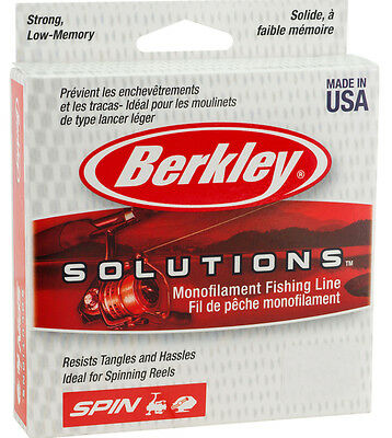 Berkley Solutions Mono Fishing Line - 300m Spool - All Breaking Strains NEW 2017