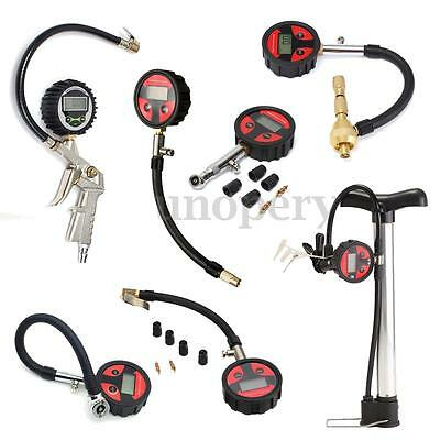 Tire Tyre LCD Digital Pressure Gauge Auto Car Motorcycle Truck Portable 10 Types