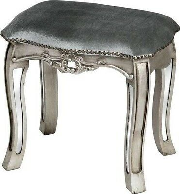 Argente Mirrored Dressing Table Stool- Vintage - Shabby Chic - French Country