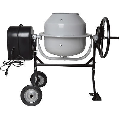 Klutch 1.77 Cubic Ft. Electric Cement Mixer - 1/4 HP