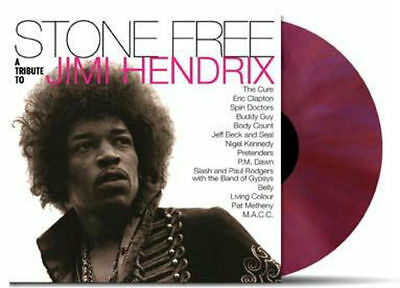 STONE FREE VARIOUS Tribute To Jimi Hendrix Numbered RED/PURPLE Vinyl 2x LP NEW