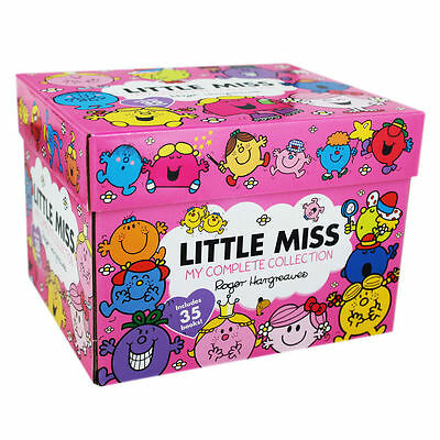 Little Miss Complete Collection 35 Books Box Set by Roger Hargreaves, Shy, Magic