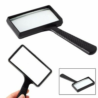 Handheld Rectangular 5X Magnifier Magnifying Glass Loupe For Reading Jewelry New
