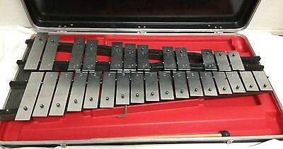 Ludwig Kitching Metal Xylophone Student 29 Bell Kit Band Percussion Hard Case