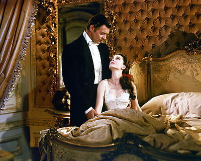 Gone with the Wind Clark Gable Vivien Leigh in bedroom color 8x10 Photo