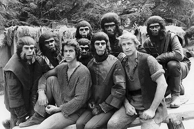 Planet of the Apes Roddy McDowall James Naughton Ron Harper on set 24x36 Poster