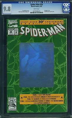 SPIDER-MAN # 26  MARVEL 1992 holo Cover   CGC 9.8 MINT 2nd Highest