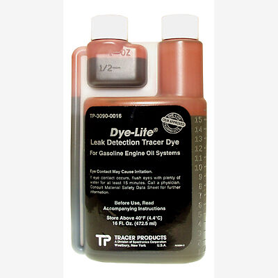 Tracerline TP3090-0016 Leak Detection Dye, for Gasoline Engine Oil 16 oz.