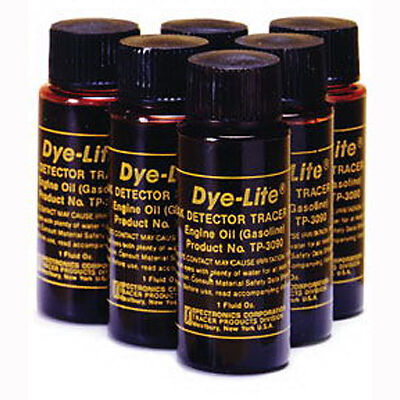 Tracerline TP3090-6 Leak Detection Dye for Gasoline Engine Oil (6) 1 oz. Bottles