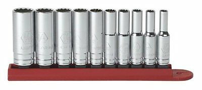 Gearwrench 80309D 10 piece 1/4 Drive 12 point Deep SAE Socket Set