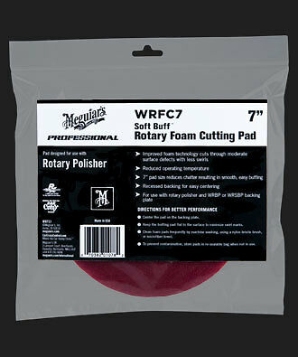 Meguiars WRFC7 Soft Buff Rotary Foam Cutting Pad 7""