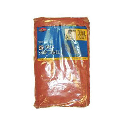 "Carrand 40048 25 pk Shop Towel 13""X14"" Red"