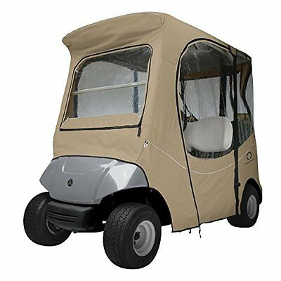 Classic Accessories Fairway Golf Cart Enclosure for Yamaha, Short Roof, Khaki