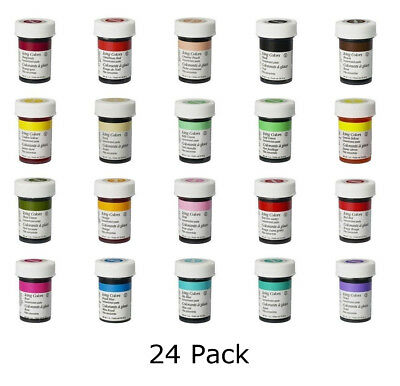 Wilton Icing Color Concentrate Paste Gel Cake Cupcake Food Colouring Baking x 24