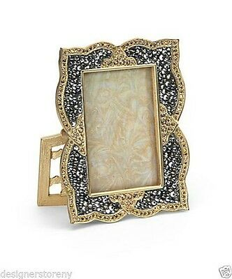 Jay Strongwater Morgan Scalloped Pave Photo Frame W/ Swarovski Crystals