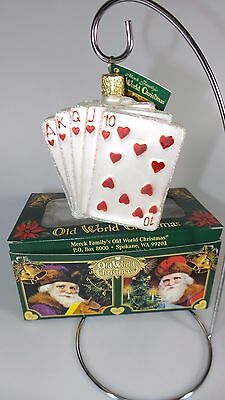 New In Box Merck Old World Christmas Royal Flush Christmas Ornament