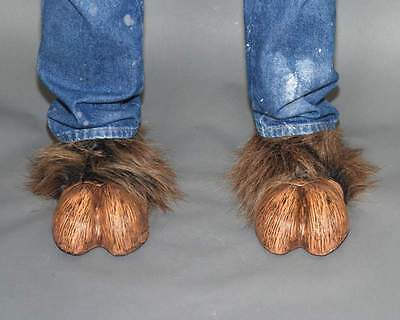 Shoes - Brown Hooves - Halloween Fancy Dress Costume Accessory