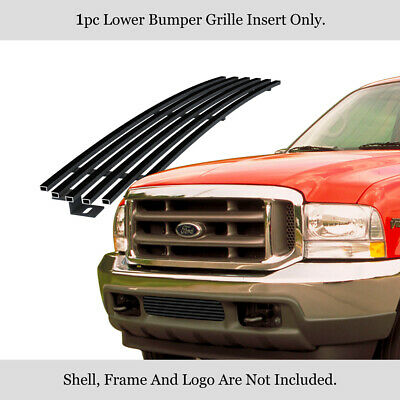 Fits 1999-2004 Ford F250/F350/F450/Excursion Stainless Black Bumper Billet Grill