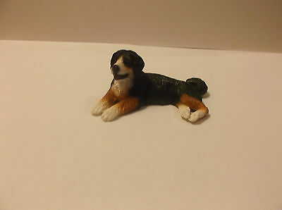 "Miniature Dollhouse 1:12"" Scale Lying Resin  Burnese  Mountian Dog"
