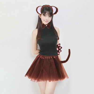 5 PCS Déguisement Cosplay Robe animaux Costume Party Bandeau Carnaval Singe